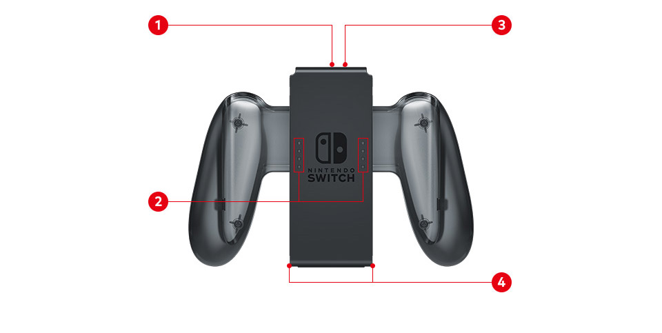 Аксессуар Switch Joy Con Charging Grip
